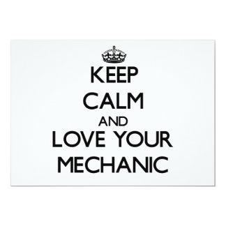 Keep Calm and Love your Mechanic Custom Announcements