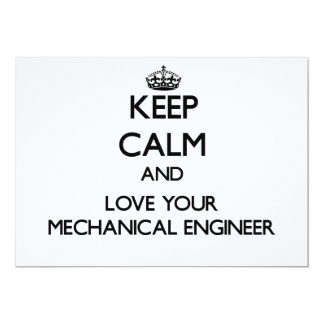 Keep Calm and Love your Mechanical Engineer Personalized Invites