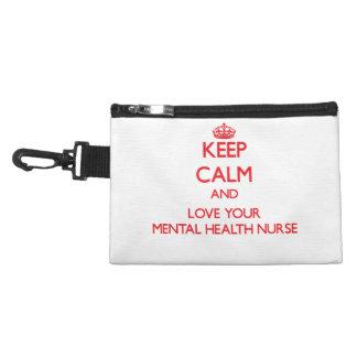 Keep Calm and Love your Mental Health Nurse Accessories Bag