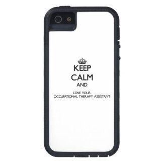 Keep Calm and Love your Occupational Therapy Assis iPhone 5 Case