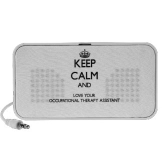Keep Calm and Love your Occupational Therapy Assis Mini Speaker