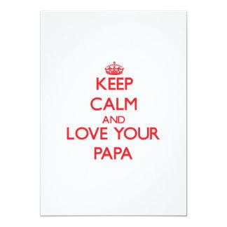 "Keep Calm and Love your Papa 5"" X 7"" Invitation Card"