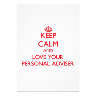 Keep Calm and Love your Personal Adviser Card