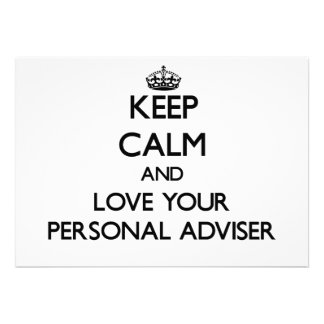 Keep Calm and Love your Personal Adviser Cards