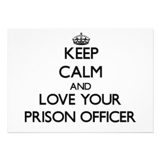 Keep Calm and Love your Prison Officer Personalized Announcement