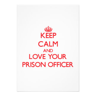 Keep Calm and Love your Prison Officer Personalized Announcements