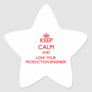 Keep Calm and Love your Production Engineer Star Stickers