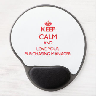 Keep Calm and Love your Purchasing Manager Gel Mouse Mats