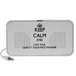 Keep Calm and Love your Quality Assurance Manager Travel Speakers