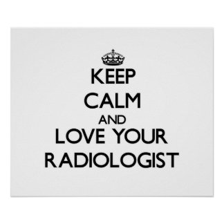Keep Calm and Love your Radiologist Poster