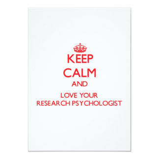 Keep Calm and Love your Research Psychologist Custom Invites