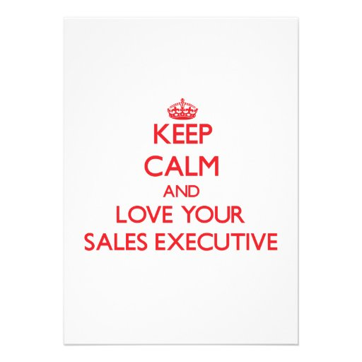 Keep Calm and Love your Sales Executive Personalized Announcements