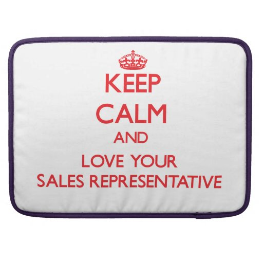 Keep Calm and Love your Sales Representative Sleeve For MacBooks