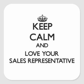 Keep Calm and Love your Sales Representative Stickers