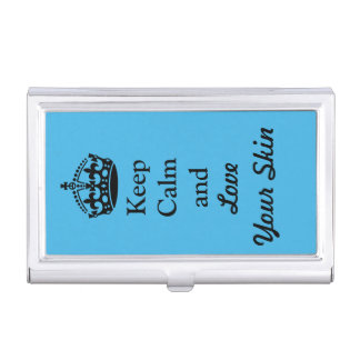 Keep Calm and Love Your Skin Business Card Holder