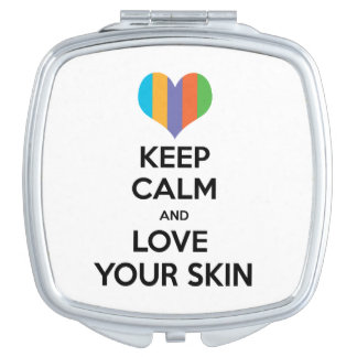 Keep calm and love your skin R+F Compact Mirrors