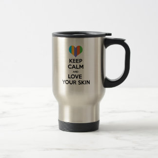 Keep calm and love your skin R+F Travel Mug