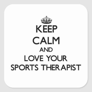 Keep Calm and Love your Sports Therapist Sticker