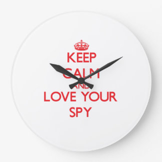 Keep Calm and Love your Spy Wall Clock