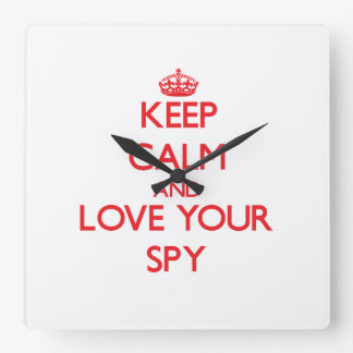 Keep Calm and Love your Spy Wall Clocks