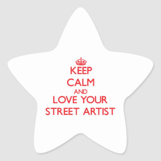 Keep Calm and Love your Street Artist Sticker