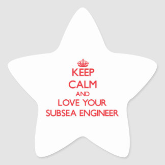 Keep Calm and Love your Subsea Engineer Stickers