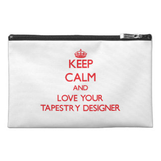 Keep Calm and Love your Tapestry Designer Travel Accessories Bag