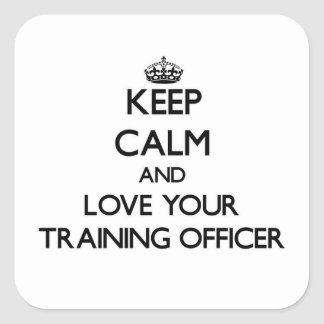 Keep Calm and Love your Training Officer Sticker