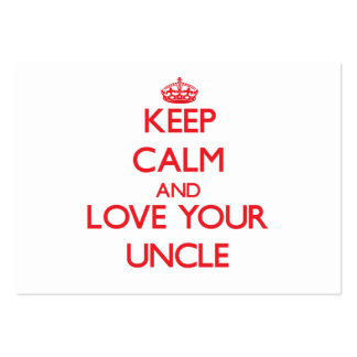 Keep Calm and Love your Uncle Pack Of Chubby Business Cards