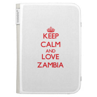 Keep Calm and Love Zambia Kindle 3 Covers