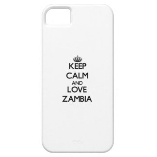 Keep Calm and Love Zambia iPhone 5 Case
