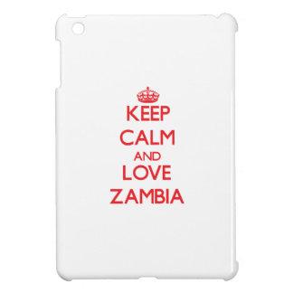 Keep Calm and Love Zambia iPad Mini Covers