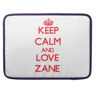Keep Calm and Love Zane MacBook Pro Sleeve