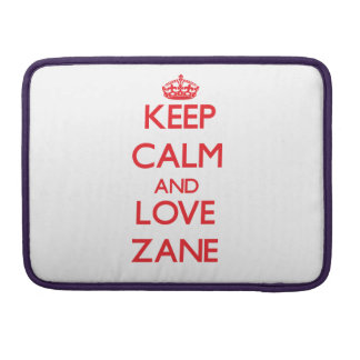 Keep Calm and Love Zane Sleeves For MacBook Pro