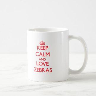 Keep calm and love Zebras Mug