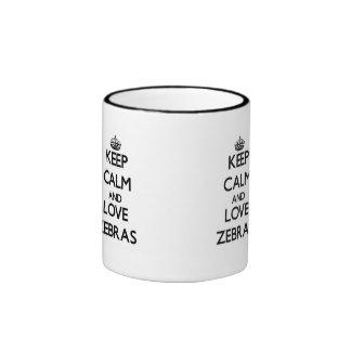 Keep calm and Love Zebras Coffee Mugs