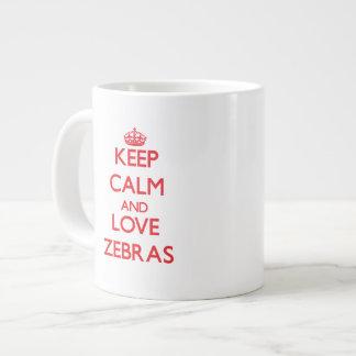 Keep calm and love Zebras Jumbo Mug