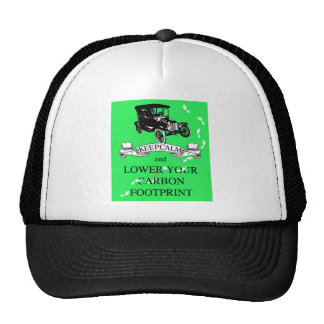 Keep Calm and Lower Your Carbon Footprint Design Mesh Hat