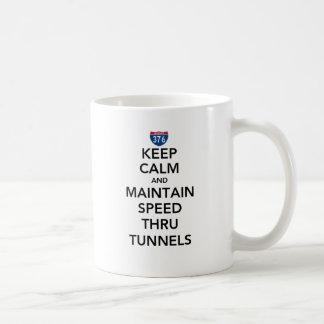 Keep Calm and Maintain Speed Thru Tunnels Basic White Mug
