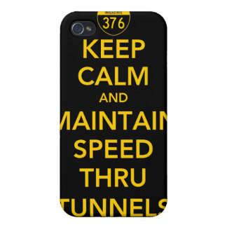 Keep Calm and Maintain Speed Thru Tunnels iPhone 4 Covers