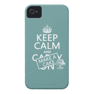 Keep Calm and Make A Cake (customize colors) iPhone 4 Case