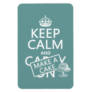 Keep Calm and Make A Cake (customize colors) Magnet