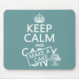 Keep Calm and Make a Cake Mouse Mat