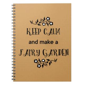 Keep Calm and Make a Fairy Garden Notebook