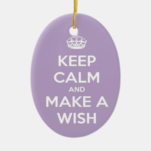 Keep Calm and Make A Wish Lavender Ornament