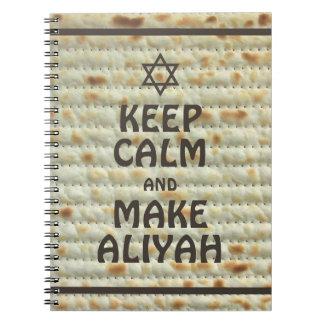 Keep Calm And Make Aliyah - Matzah Note Books