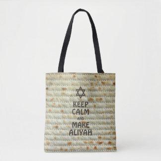 Keep Calm And Make Aliyah - Matzah Tote Bag