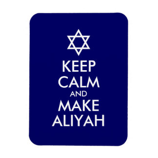 Keep Calm And Make Aliyah Rectangular Photo Magnet