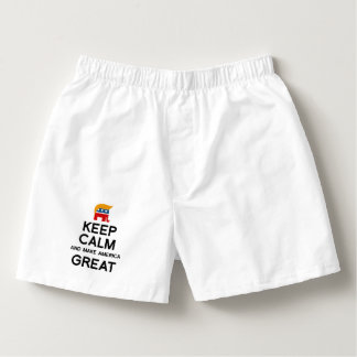 Keep Calm and Make America Great Boxers