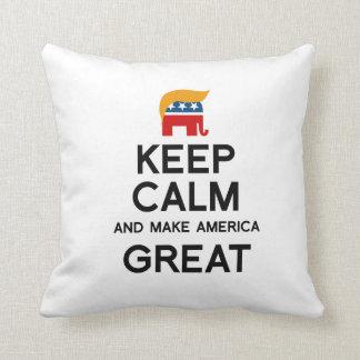 Keep Calm and Make America Great Throw Cushions